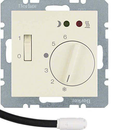 Hager S.1 – plaat thermostaat vloerverwarming schakelaar + objectief mechanisme serie 1 wit