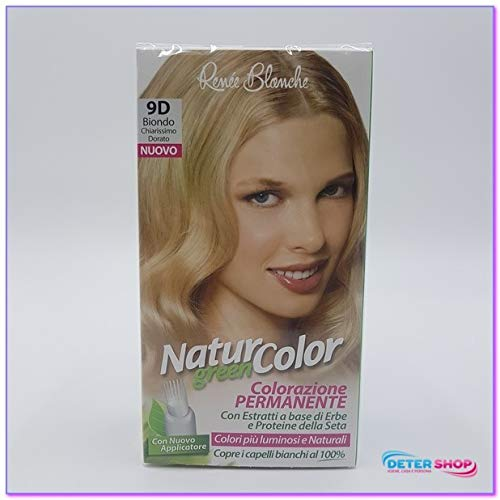 teinture pour les cheveux coloration permanent naturel natur color green9 d blond chiarissimo d'or