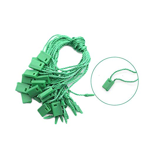 1000pcs 7inch Hang Tag Nylon String Snap Lock Pin Loop Fastener Hook Ties Easy and Fast to Attach for Clothes Backpack Brand Tag Price Luggage Label Attachment