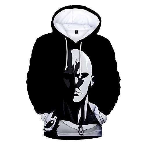 Cilyberya One Punch Man Hoodie Langarm Digital 3D Kapuzenpullover Uni-Jacke