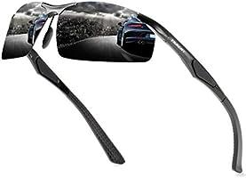 Tarent Sonnenbrille Herren polarisiert mit Hochwertiger Al+Mg Metallrahmen, Fahrradbrille Sportbrille Fahrer Brille für...