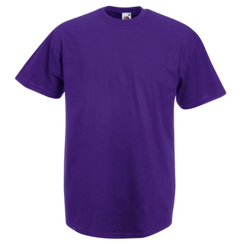 Fruit of the Loom Herren-Kurzarm-T-Shirt Gr. XL, violett