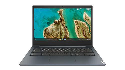 Lenovo IdeaPad 3 Chromebook 35,6 cm (14 Zoll, 1920x1080, Full HD, entspiegelt) Ultraslim Notebook (Intel Celeron N4020, 4GB RAM, 64GB eMMC, Intel UHD-Grafik 600, ChromeOS) dunkelblau