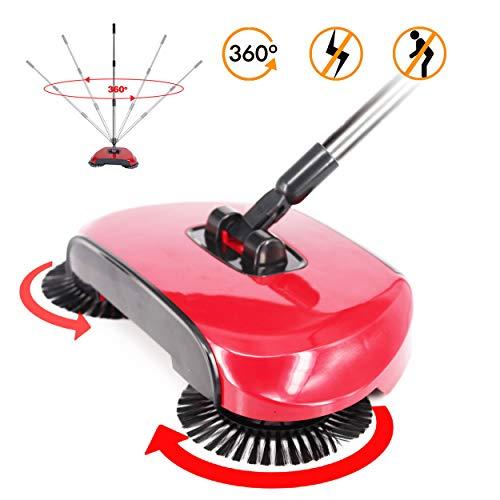 ACHATPRATIQUE Empuje de la Mano Roto Barredora de Piso sin Electricidad | Hand Push Sweeper | Barredora mecánica 114x35cm