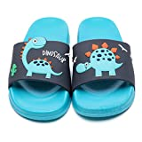 Toddler Little Kids Dinosaur Beach/Pool/Shower Slides/Anti-Skid Home Bath Slippers/Cute Summer Outdoor Shoes for Girls and Boys(2013-tal-20)