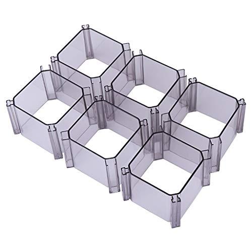 Tie Box Accueil Chambre Armoire Type de tiroir PP Matériau Boîte de Finition indépendant 6 pièces de Finition Petits Articles