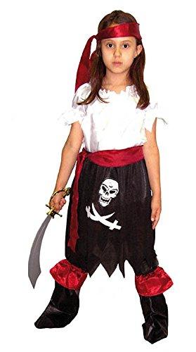 el carnaval Disfraz Pirata Niña Talla de 8 a 10 años: Amazon.es: Hogar
