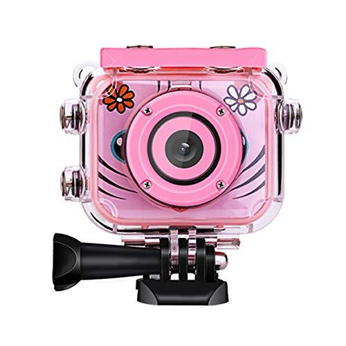 "WXJWPZ Kids Cam fotografica 2.0"" LCD HD Digital Camera with Sport Waterproof Cam Children Kids Best Gift 1080P Video Camera Camcorder Pink"