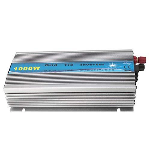 Jadpes Mppt Pure Sine Waves Wechselrichter mit Netzanschluss, 1000 W Pure Sine Waves Wechselrichter Netz MPPT Solar-Wechselrichter für Batterieladeboote, Wohnwagen, Wohnmobile(GTI-1000W-18V-220V)