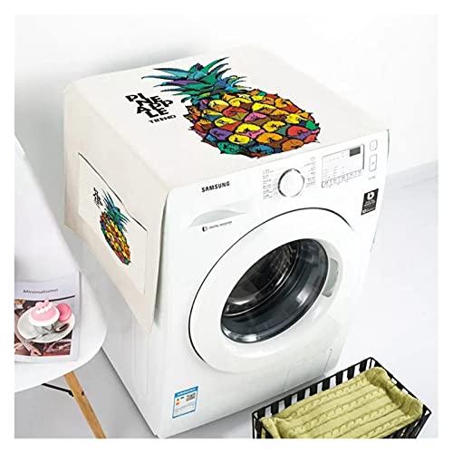YSJJWDV Cubierta Polvo Lavadora Funda de Lavadora nórdica Fridge Tapa de Polvo de algodón Organizador de refrigerador Organizador de algodón Cubiertas de Polvo de algodón Limpieza del hogar