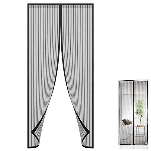 Mosquitera Puertas Cortina Magnética para Puertas cortina mosquitera para Puertas Cortina de Sala de Estar la Puerta del Balcón Puerta Corredera de Patio Anti Insectos Moscas y Mosquitos 90 x 210cm