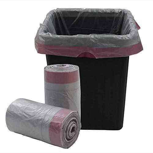 YONGXINXUZE Artículos de Limpieza para el hogar Caddy Barril Liner Bote de Basura de 40 litros Forrado con un Bote de Basura con cordón Forrado con 125 Bolsas de Bolsas de Basura