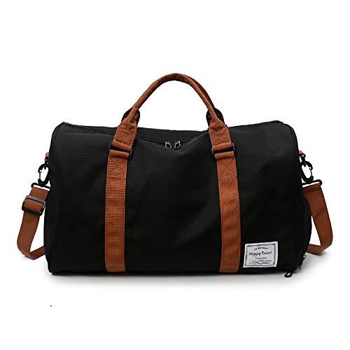 Allibuy Gym Bag Duffle Bag Short-distance Travel Hand Bag Large-capacity Training Sports And Fitness Bag Unisex Sports Bag Training Handbag Men Women (Color : Black, Size : 48x28x26cm)