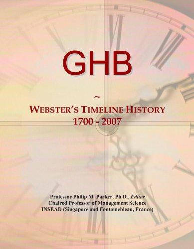 GHB: Webster's Timeline History, 1700 - 2007