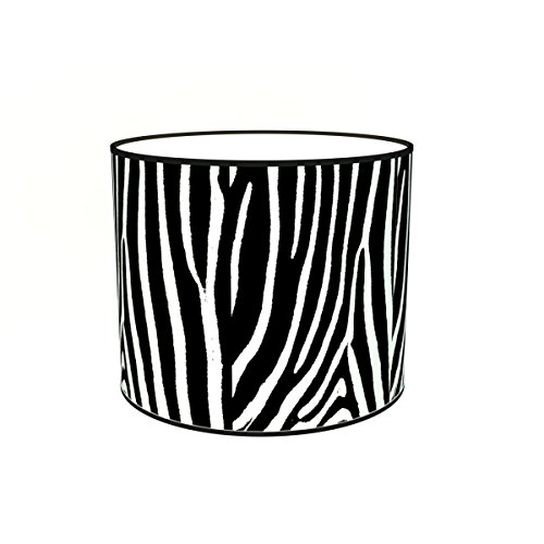 Abat-jours 7111308860623 Imprimé zébre1 Lampadaire, Tissus/PVC, Multicolore