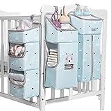 SUNVENO Baby-Wickeltasche, 3-in-1, abnehmbarer Wickel-Organizer zum Aufhängen, Aufbewahrungstasche für Babybett, Wickeltisch oder Wand, blau