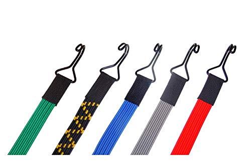 Stanleys Seil Shop Spanngummi Planenspanner Spanngurt Expander elastisch flach 22mm breit mit 2 Doppelhaken (40 cm (Grün))