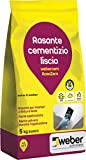 webercem RasaZero Rasante a finitura extra liscia per interni, bianco, 5 kg