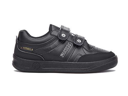 Zapatilla Soft Negro Paredes Estrella Velcro - Velcro - Talla 41