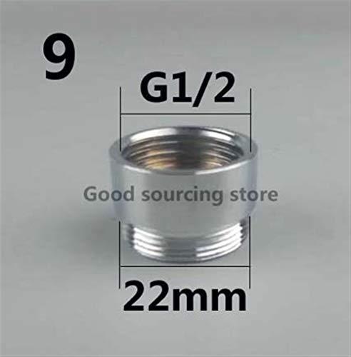 Filtre brita 16 18 20 22 24 mm G3 / 4 G1 / 2 Purificateur d'eau de robinet de cuisine Aérateur Adaptateur, Accessoires de Purificateur d'eau brita (Color : Model 9)