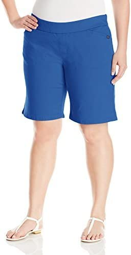 Chic Classic Collection Women's Plus-Size Plus Size Flat Waist Pull On Bermuda Short