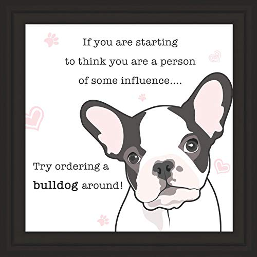 Bulldogs Gifts | 7x7' Tile Artwork for Decoration | Dog Themed Present | Art Print Gift for English & French Bulldog Lover | Ideal for Home & Bedroom Decor