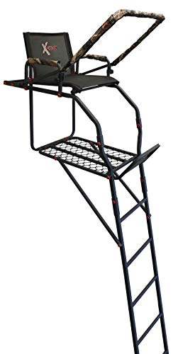 X-Stand Treestands The Sportsman 17' Single Person Ladderstand, Black