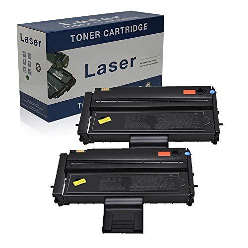 Compatible Reemplazo De Cartuchos De Tóner para Ricoh SP200 para Su Uso con Ricoh Aficio SP200 SP201 SP202 SP203 SP204 SP210 SP211 SP212 SP213 407254 Impresora Negro,2 Pack