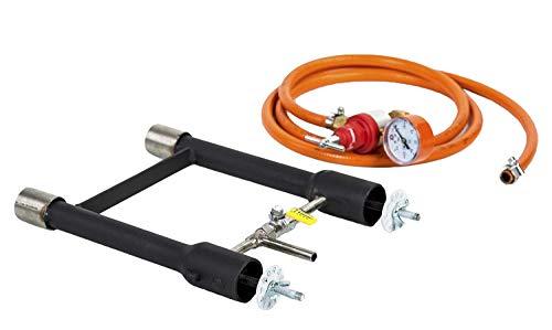 Quemador de gas dual | Herreros Forge | Fundición de horno | Cuchillo de granjero de propano | 103