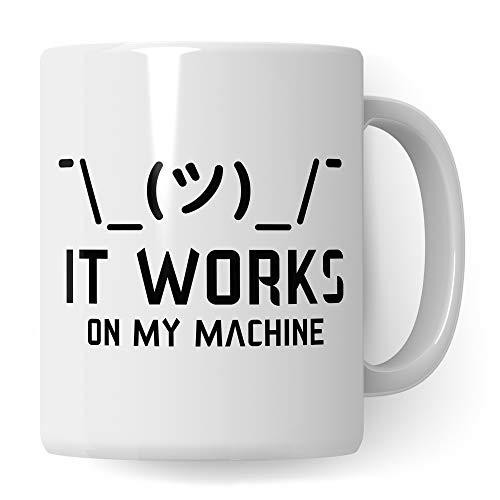 Pagma Druck Programmierer Tasse, Informatiker Geschenke lustig IT Spruch Informatik Becher, Programmieren Geschenkidee Entwickler, Kaffeetasse Admin Administrator, Systemadministrator Kaffeebecher