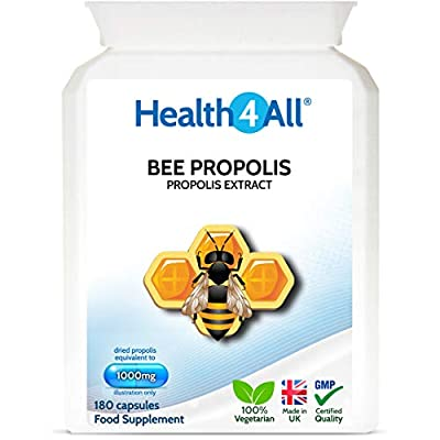 Bee Propolis High Strength 1000mg 180 Capsules (V) Made by Health4All