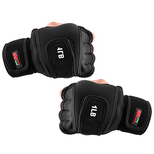 Weighted Gloves 2lb(1lb Each), Fitness Soft Iron Gloves Sandbag Weight Bearing Training Gloves with Wrist Support for Gym Boxing, Cross Training(2lb)
