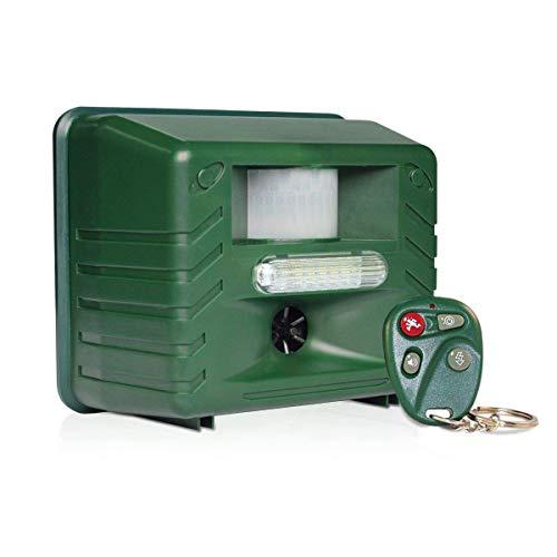 ASPECTEK Ultrasonic Repeller Pest Deterrent Animali ad ultrasuoni, parassiti, Protegge Il Tuo Cortile da Cani, Gatti, scoiattoli, roditori (Repellente ad energia Solare), HR1324
