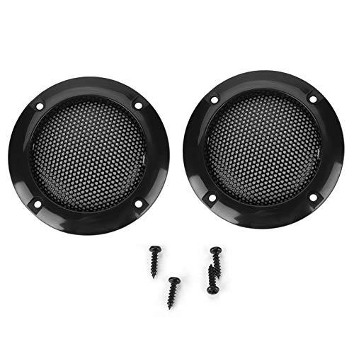 2 Zoll Lautsprecherabdeckung, Speaker Schutzgitter Abdeckung für Kleine Lautsprecher und Autolautsprecher, Dekorationskreis Cover für Lautsprecher (schwarz)