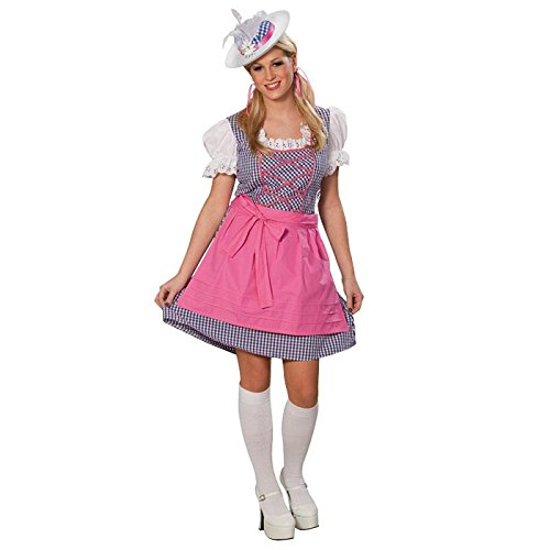 Kostüm Dirndl Gr. 36 - 46 Fasching Karneval Damen Tracht Kleid Oktoberfest (38)