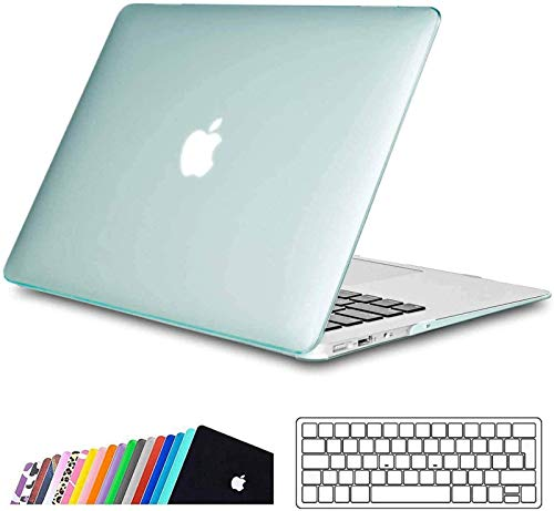 iNeseon Case for 2010-2017 MacBook Air 13-inch (Model A1466 A1369), Slim Hard Shell Protection Case + Keyboard Cover for MacBook Air 13 (Size: 32.5 x 22.7 cm), Mint Green
