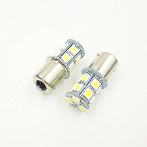 MagiDeal Juego de 10 Bombillas de Marcha Atrás de Señal de Giro de Luz LED Blanca para Coche 1156 BA15S 13-SMD 5050