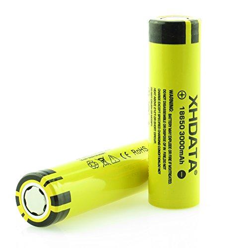 XHDATA 3000mAh 3,7V-Batterie Lithium-Ionen wiederaufladbare Hochleistungsbatterien Gelb(3000mah-2pc)