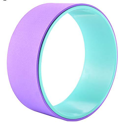 Rueda de Yoga Anillo de Yoga Pilates Ring Yoga Dispositivo de Fitness Auxiliar Rueda Home Yoga Rueda Backbend por Estiramiento (Color : Purple, Size : 14x33cm)