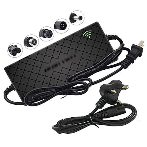 BOYUYO Cargador de batería para Scooter eléctrico de Iones de Litio de 54,6 V y 2 A, Adaptador de Corriente, Cargador de batería de Litio para Bicicleta eléctrica, Carga rápida, protección de Tempe