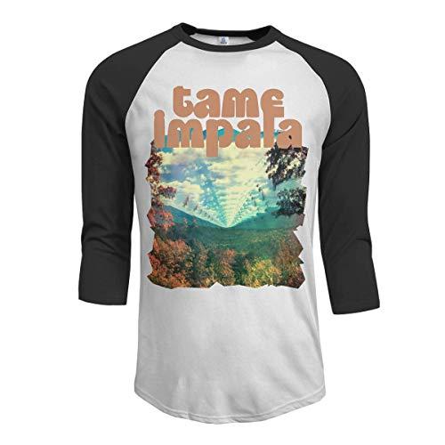 Pimkly Camisetas y Tops,Polos y Camisas Hombres Tame Impala Innerspeaker 3/4 Sleeve...