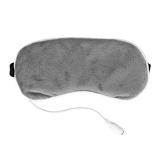 Elektrische oogmasker, verwarming Steam Eyeshade slaapmasker verwarming 's nachts slaap reizen draagbaar voor verlichting van droge en gezwollen ogen, hot compress ogen massageapparaat