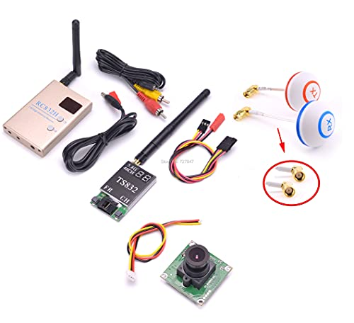 para FPV 5.8G 5.8G Hz 4 8CH para RC Transmisor TX TS832 & Receptor RC832 RC832 Antena de champiñones 70 0TVL Cámara para Carreras para Drone F450 S500 Reemplace dañado ( Color : with Camera PAL )