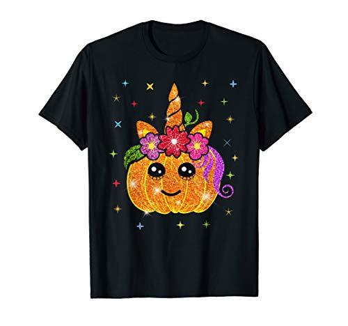 Einhorn Kürbis für Süßes oder Saures zu Halloween Spuktober T-Shirt