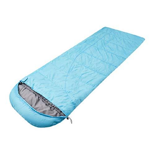 DLSM Schlafsäcke Frühling und Herbst Dünnschnitt im Freien Reisen Jede schmutzige Mittagspause Umschlag Camping kalt Dicke Paar Baumwolle Schlafsack-Himmelblau