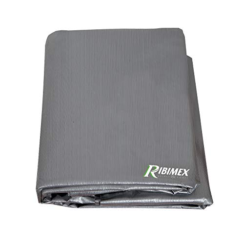 Ribimex PRH091130X70G Copertura Rettangolare per Barbecue 130x70x80h, Grigio Antracite, 130 x 70 x 80 cm