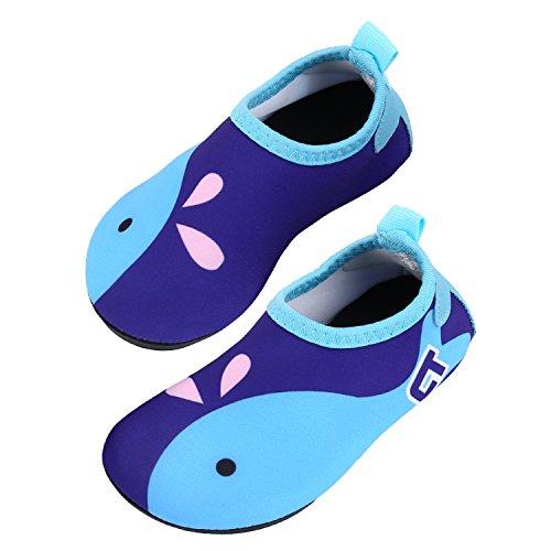 TAGVO Niemowlęce dziewczęce buty wodne, szybkoschnące buty na boso skóra, skarpetki wodne, buty do pływania, na plażę i basen