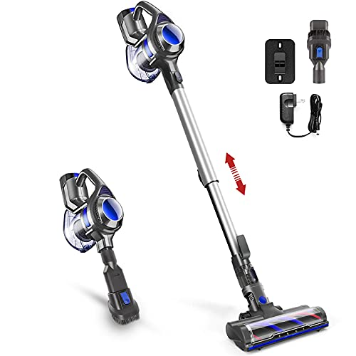 Cordless Vacuum, 4 in 1 Design 12kPa Vacuum Cleaner, 1.3L Capacity, Lightweight Stick Vacuum with HEPA Filters Convert Handheld Vacuums for Hardwood Floor Carpet, Pet Hair