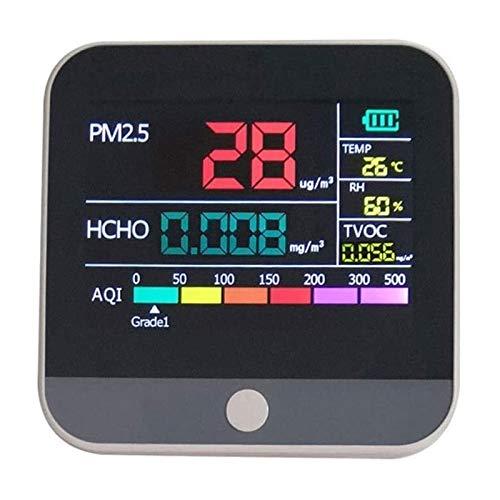LILIS Carbon Monoxide Meter Formaldehyd Analyzer PM2.5 HCHO TVOC AQI Temperatur- und Feuchtigkeitssensor Ultrafeine Staubzähler Precision Tester Multifunktionale Multifunktionsgasanalysator