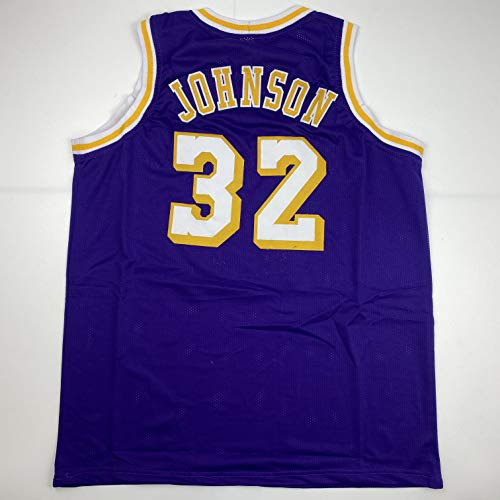 Unsigned Earvin Magic Johnson Los Angeles LA Purple Custom Stitched Basketball Jersey Size Men's XL New No Brands/Logos